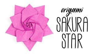 Origami Sakura Star by Ali Bahmani ★ Paper Kawaii