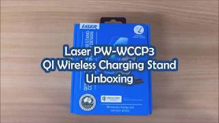 Laser PW-WCCP3 QI Wireless Charging Stand Unboxing