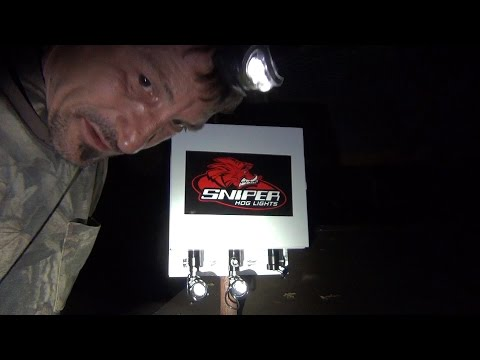 Exterminator 2, Hog Hunting Feeder Light By Sniper Hog Lights, Set Up