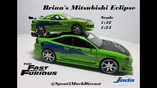 Brian's Mitsubishi Eclipse Diecast The Fast And The Furious Jada