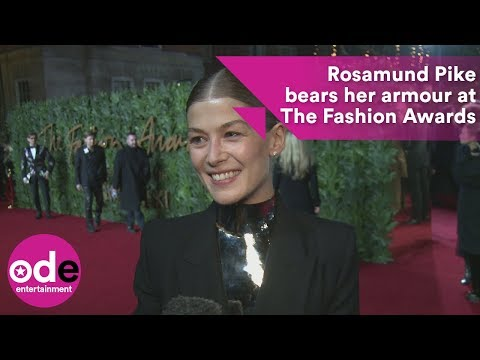 Rosamund Pike talks Golden Globes at The Fashion Awards