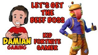 ?  BUYING BEEF BOSS SET ? | KID FORTNITE GAMER | DAMIAN GAMING