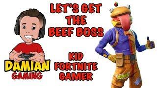 ?  BUYING BEEF BOSS SET ? | KID FORTNITE GAMER | DAMIAN GAMING
