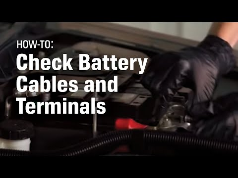 how to check and replace your car's battery cable and terminal ends -  autozone car care - youtube
