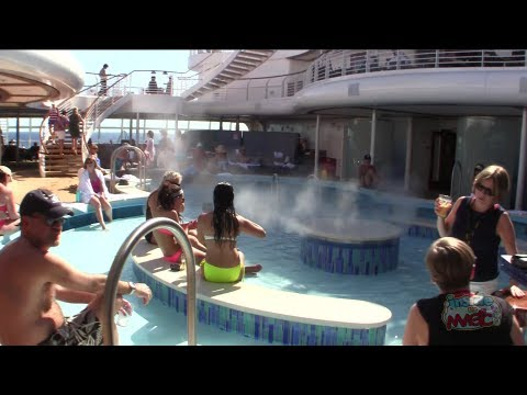 Quiet Cove Disney Fantasy adult pool area on Disney Cruise Line