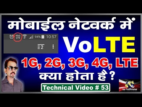 What is VoLTE and Lte, 4G, 3G, 2G, 1G in Phone Network in hindi # 53