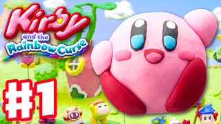 Kirby and the Rainbow Curse - Gameplay Walkthrough Part 1 - Level 1-1 100%! Intro! (Nintendo Wii U)