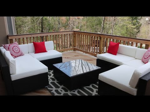 outsunny outdoor patio sofa sectional furniture set review