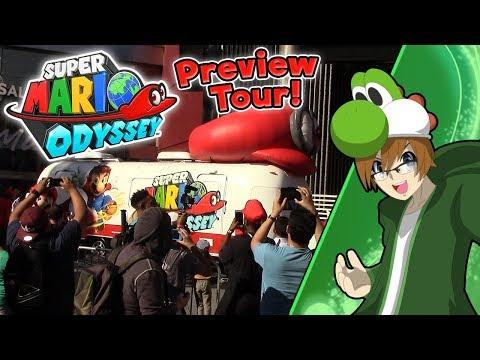 Yoshiller at the Super Mario Odyssey Tour! (Universal City Walk, California)
