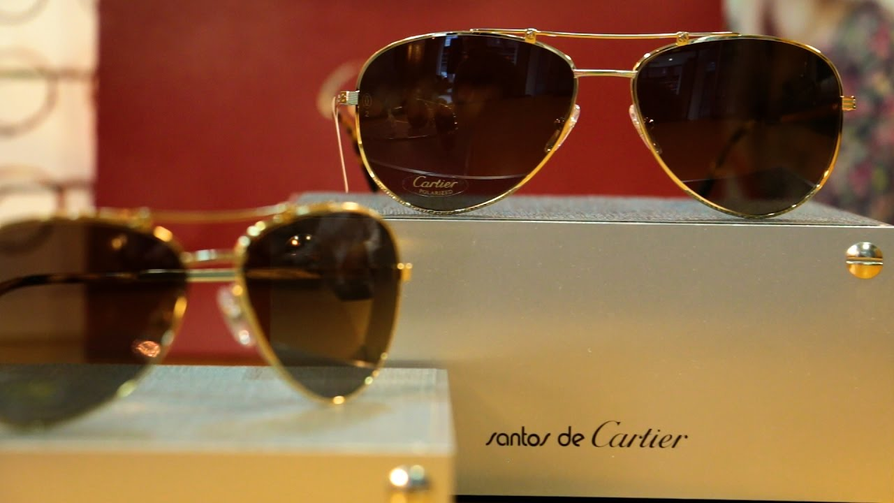 4077653ffb36 Silverberg Opticians - Santos de Cartier Collection - YouTube
