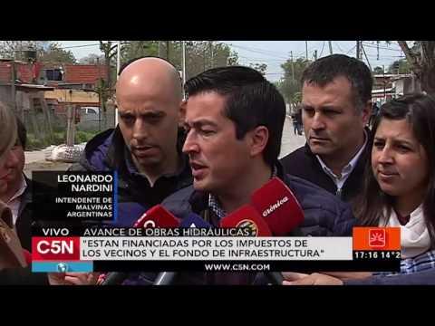 C5N - Malvinas Argentinas: presentaron avance de obras hidráulicas