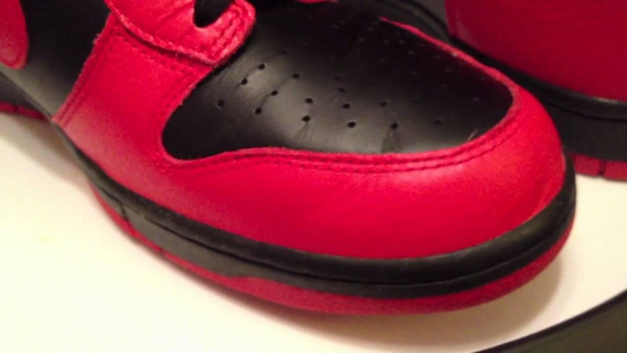 big sale 97103 9392f Nike Dunk High - Black / Action Red ...
