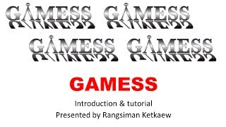 Install GAMESS & Running Some Calculation [Window OS]