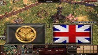 Japan Vs British Expert Gameplay! AOE 3