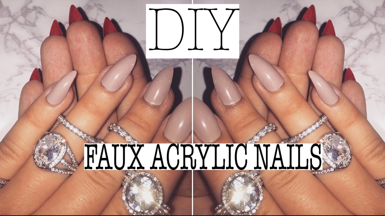DIY: MY FAUX ACRYLIC MANICURE - YouTube