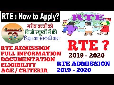 RTE admission 2019 - 2020 | RTE admissions Full Guidance Help Documentation Eligibility