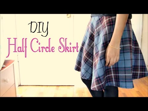 960aded1c35399 How to Make a Half Circle Skirt (without a pattern) - YouTube