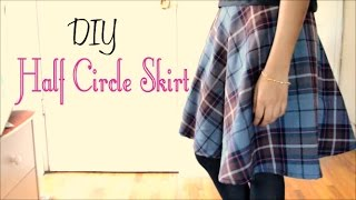 How to Make a Half Circle Skirt (without a pattern)