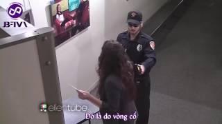 Justin bieber's giả làm bảo vệ an ninh đùa người khác - security guard prank ( vietsub)
