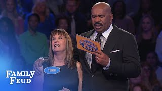 WOW! Terri takes Fast Money by storm! | Family Feud