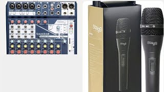 Quality but inexpensive music gear #1. Stagg SDM80 microphone/Soundcraft Notepad 12fx mixer