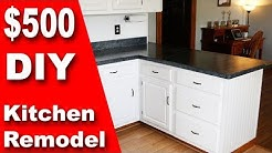 How To: $500 DIY Kitchen Remodel | Update Counter & Cabinets on a Budget