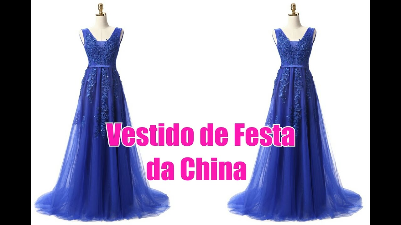 Vestido de festa feito na china