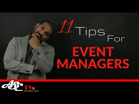 TIPS: 11 Tips For Event Managers