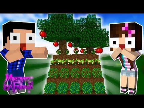 COMEÇAMOS UMA PLANTAÇÃO FANTÁSTICA! 🍎 - Minecraft Fantasia #24