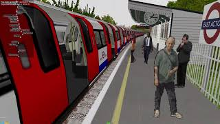 OpenBVE Central Line Ealing Broadway to Liverpool Street