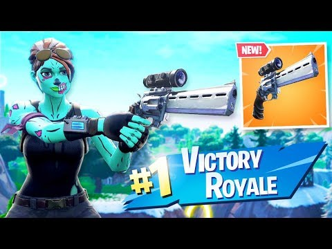 New Scoped Revolver Gameplay In Fortnite Youtube