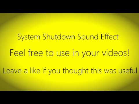 System Shutdown Sound Effect
