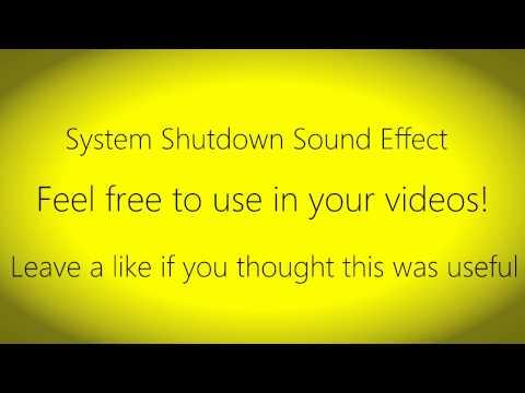 System Shutdown Sound Effect