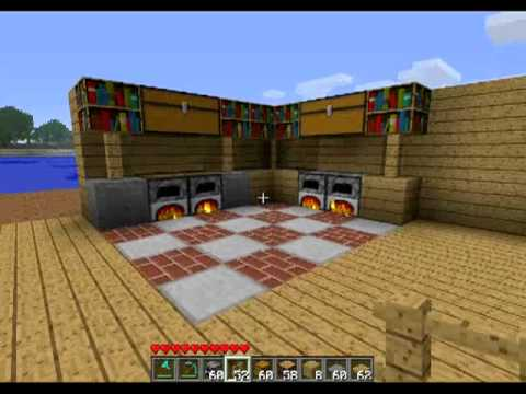 Minecraft comment faire une belle cuisine youtube for Cuisine moderne minecraft
