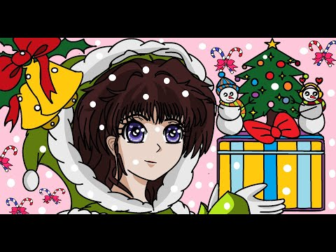 #HOW TO DRAW CUTE  GIRL WITH  #CHRISTMAS  GIFT  BY  #K. M. T. ARTS  PART 2.