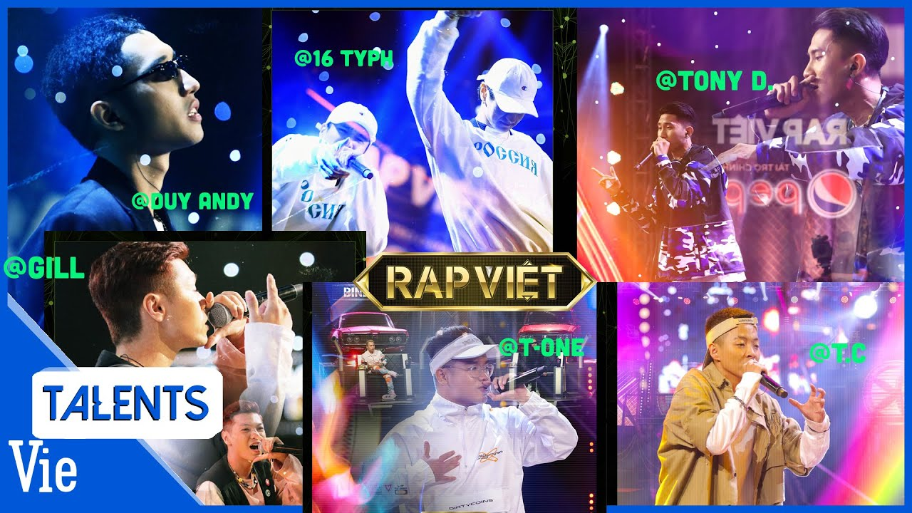 6 TIẾT MỤC RAP VIỆT #4   Gill, T-One, Tony D., T.C, Duy Andy, 16 Typh