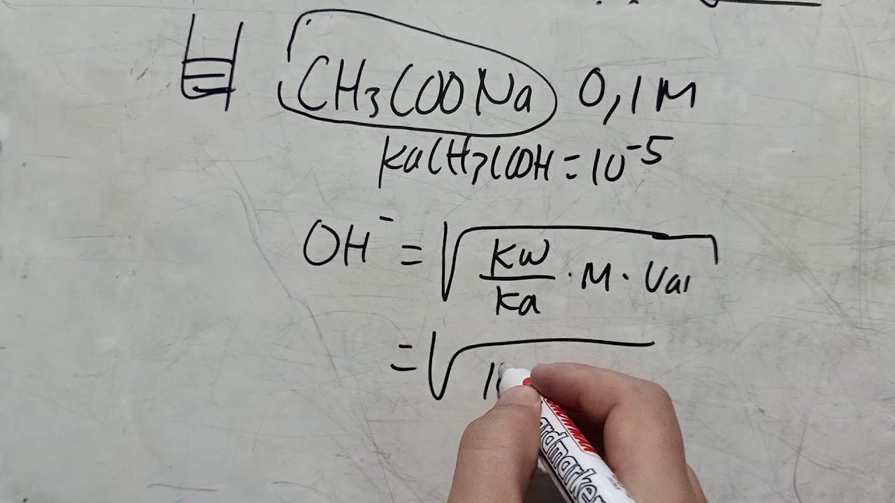 cara menghitung pH larutan garam dengan mudah - YouTube