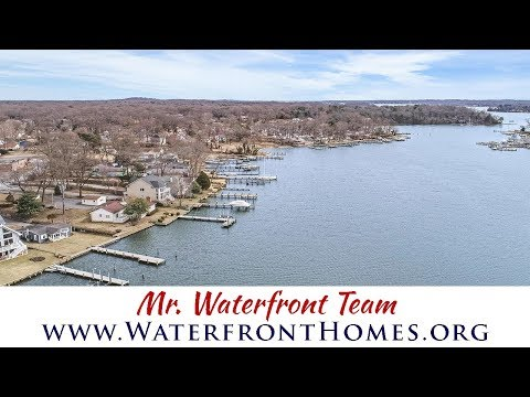 For Sale - Magothy River Waterfront | 350 Riverside Drive, Pasadena, MD 21122 | Mr. Waterfront Team