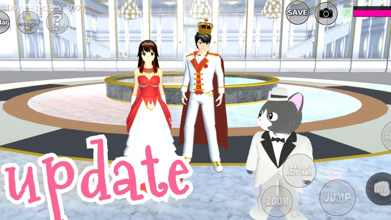 NEW UPDATE VER. 1.035.16   sakura school simulator  อัพเดทเกมส์ใหม่ค่ะ มีชุดเจ้าชายชุดเจ้าหญิง