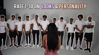 1 Girl Rates 11 Guys by LOOKS & PERSONALITY