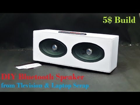 DIY Bluetooth Speaker Using Scrap Television and Laptop
