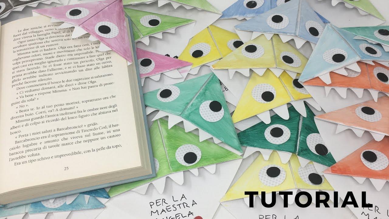 segnalibri origami tutorial - halloween fai da te - youtube