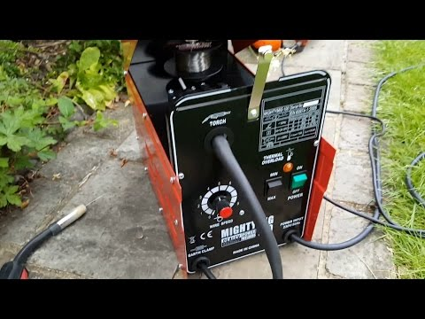 Using my Gasless MIG Welder