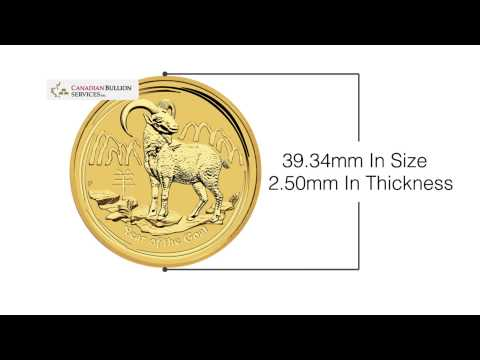 1 oz 2015 Year of the Goat Perth Mint Gold Coin