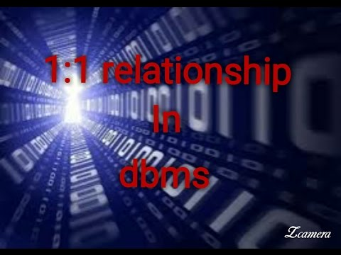 1:1 relationship in dbms (degree of relationship, cardinality, and participation )
