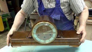 Часы каминные URGOS.Реставрация корпуса.