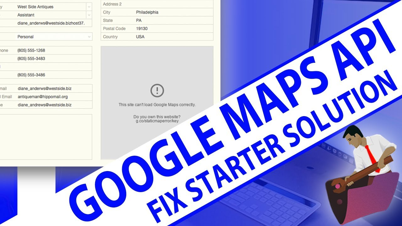 Google Maps Api - Fixing Filemaker Contacts Starter Solution-filemaker Api Training