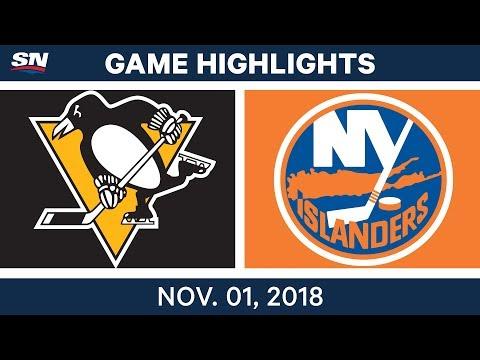 NHL Highlights   Penguins vs Islanders - Nov. 1, 2018