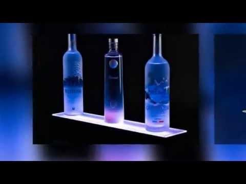 LED Liquor Cabinet Lighting - YouTube