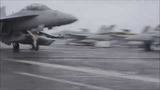 F-18 carrier landing on USS George Washington